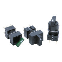 Selector knob switch / multipole / electromechanical / miniature