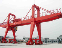 Rail-mounted gantry crane / steel / double-girder