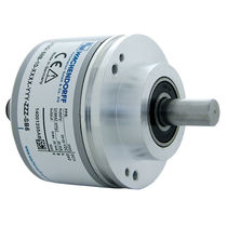 Incremental rotary encoder / optical / solid-shaft / with clamping flange