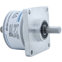 Incremental rotary encoder / optical / solid-shaft / with square flange