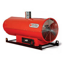 Hanging hot air generator / fuel oil / with chimney