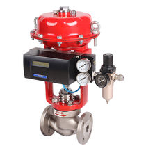 Globe valve / electrically-actuated / pneumatically-operated / control