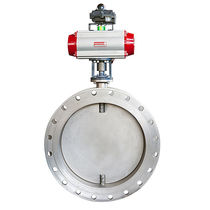 Butterfly valve / electrically-actuated / pneumatically-operated / for gas