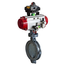 Butterfly valve / pneumatically-operated / control / shut-off