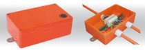 In-line junction box / fiberglass-reinforced polyester / halogen-free / fire-resistant