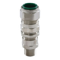 Nickel-plated brass cable gland / explosion-proof / for armored cables