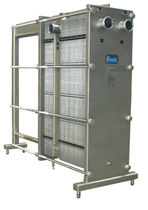 Plate heat exchanger / liquid/liquid / for pasteurization