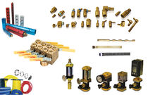 Straight fitting / hydraulic / brass / for mold cooling