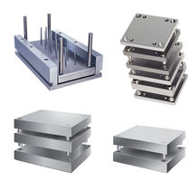 Drilled machined steel plate for mold and tool: drilled / for molds and tools