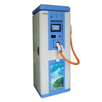 DC charging post / with integrated battery charger / for electric vehicles / floor-mounted