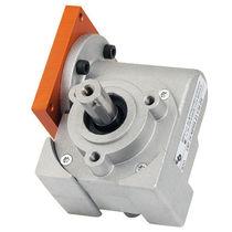 Worm gear reducer / orthogonal / solid-shaft / for motors