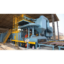 Roller shot blasting machine / for metal / automatic / steel