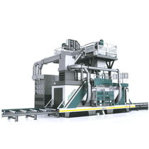 Roller shot blasting machine / for metal