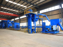 Roller shot blasting machine / for tubes