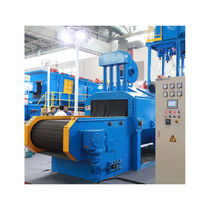 Belt shot blasting machine / for bulk materials / automatic / continuous