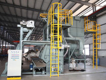 Belt shot blasting machine / for bulk materials / automatic / compact