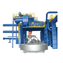 Rotating table shot blasting machine / for bulk materials