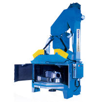 Rotating table shot blasting machine / for bulk materials / compact