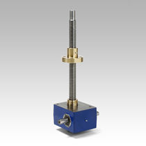 Worm gear screw jack / stainless steel / rotating screw / trapezoidal screw