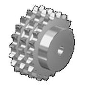 Spur sprocket wheel / straight-toothed / hub / triple