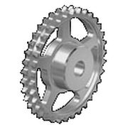 Spur sprocket wheel / straight-toothed / roller chain idler / double