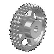Spur sprocket wheel / straight-toothed / roller chain idler / triple