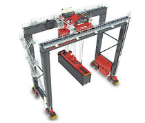 Rubber-tired gantry crane / for containers