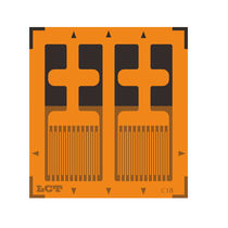 Parallel dual-grid strain gauge / for stress analysis / force measurement / high-accuracy