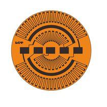 Membrane strain gauge / rosette type