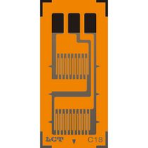 Resistive strain gauge / dual-grid biaxial / force measurement / for stress analysis