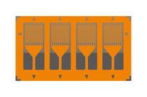 Resistive strain gauge / linear / single-grid / parallel dual-grid