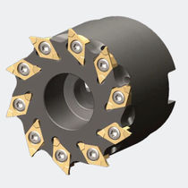 Shell-end milling cutter / insert / slot