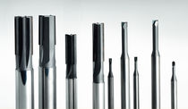 End mill milling cutter / solid / finishing / CVD