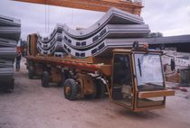 3-axle trailer / for industrial materials / flatbed / for tunnel construction