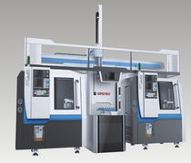 CNC lathe / 3-axis / tray loading / with gantry loader