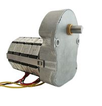 AC electric gearmotor / parallel-shaft / gear train / compact
