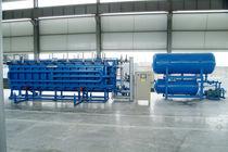 Particle foam molding machine / EPS block / PLC-controlled / horizontal