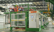 Particle foam molding machine / for expanded polystyrene / for expanded polypropylene / with vacuum cycle