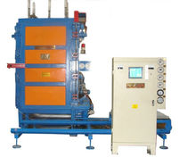 Particle foam molding machine / EPS block / PLC-controlled / with vacuum cycle