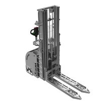 Electric stacker truck / stand-on / stainless steel