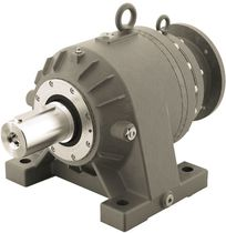 Planetary gear reducer / coaxial / conveyor / with flange