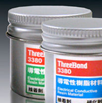 RTV silicone adhesive / single-component / electrically-conductive / industrial
