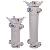 Bag filter / flange / screw-lock / plastic