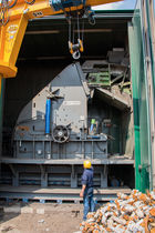 Hammer mill / horizontal / for mixed waste / large