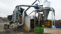 Air separator / metal / for the recycling industry / mobile
