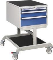 Storage cabinet / 3-drawer / mobile / metal