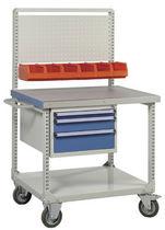 Rail-mounted cart / tool-holder / metal