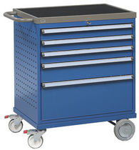 Storage cabinet / 5-drawer / mobile / steel