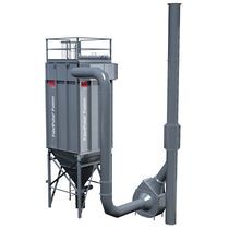 Pulse-jet backflow dust collector / compact / modular
