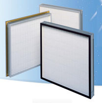 Air filter / panel / pleated / compact